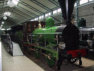 "Hyvinkää - A painstakingly restored British ""Neilson and Company"" engine, used in Finland from 1869 well into the 1920s, preserved at the Finnish Railway Museum"