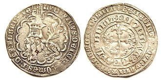 Louis II, Count of Flanders - Flanders, double groat or botdrager, struck under Louis II, Count of Flanders