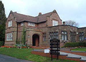 Lodge Hill Cemetery - Offices at the entrance designed by F. B. Andrews