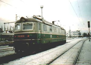 Transport in the Czech Republic - An electric locomotive in the Czech Republic (1989)