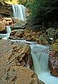 Long exposure of Douglas Falls, West Virginia (5516690840).jpg