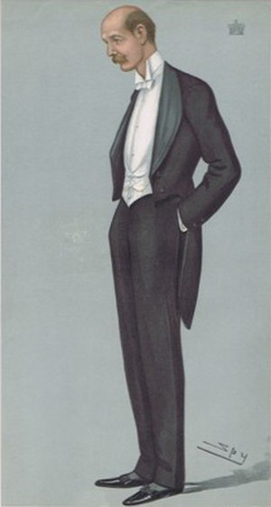"""Lord Edward Cecil - """"at Mafeking"""" Cecil as caricatured by Spy (Leslie Ward) in Vanity Fair, November 1899"""
