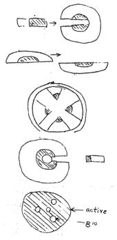 En række doodles