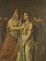 Louis Moritz - De actrices Joanna Cornelia Ziesenis-Wattier (1762-1827) en Geertruida Jacoba Grevelink-Hilverdink ( - SK-A-2201 - Rijksmuseum.jpg