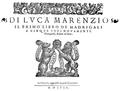 Luca Marenzio - Primo Libro de Madrigali a 5 voci 1580.png