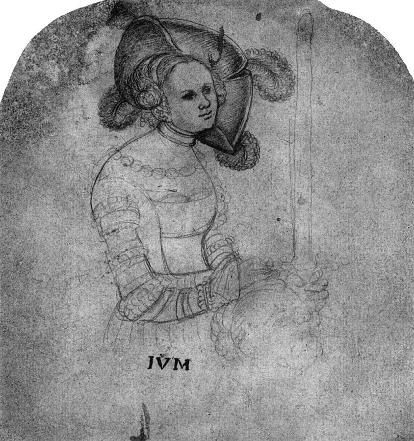 Halbfigur der Judith