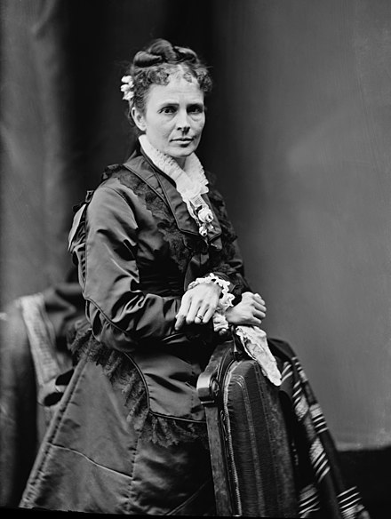 Lucretia Garfield in the 1870s Lucretia Garfield - Brady-Handy.jpg