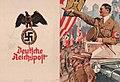 Ludwig HOHLWEIN Telegramm Schmucktelegramm Deutsche Reichspost NSDAP propgandana Reichsadler Nürnberg Decorative telegram Hitler in open car Nuremberg Castle parading SA men Cover of four page folder No known copyright restrictions.jpg