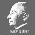 Ludwig von Mises profile (gray).png