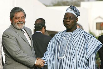Olusegun Obasanjo - Olusẹgun Obasanjo and the President of Brazil, Luiz Inácio Lula da Silva, in 2005