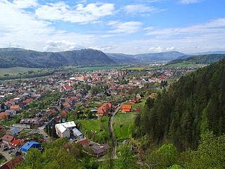 Slovenská Ľupča Village in Slovakia