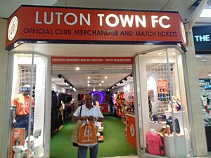 The Mall Luton - Luton Town Club shop within The Mall Shopping Centre, Luton