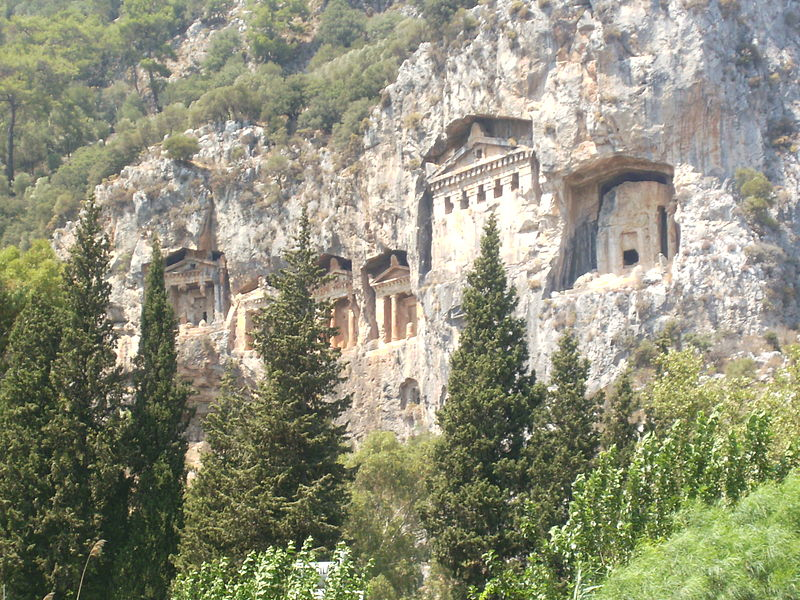 File:Lycian Kings Tombs-Dalyan.JPG