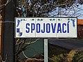 Máslovice, Spojovací, název ulice.jpg