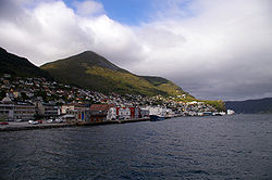 View of the town of Måløy
