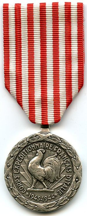 1943–1944 Italian campaign medal - 1943-1944 Italian campaign medal (obverse)