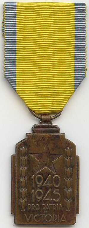1940–1945 Colonial War Effort Medal - 1940-1945 Colonial War Effort Medal (obverse)