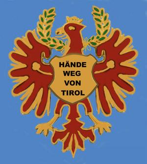 """Standschützen - Capbadge of the Tyrolese Standschützen. The caption reads """"Hands off Tyrol""""."""