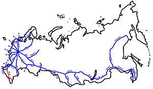 R217 highway (Russia) - Image: M29 karte RF