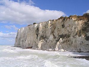 Mers-les-Bains - The chalk cliffs