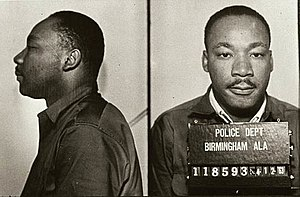 Martin Luther King Jr. - Mug shots of King following his arrest for protesting the treatment of blacks in Birmingham