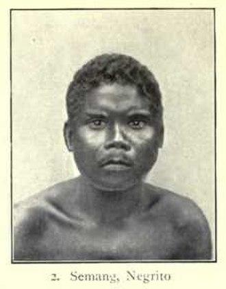 Semang - A Semang man, 1899.