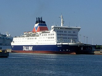 Tallink - MS Meloodia, chartered from EstLine in 1995, introduced a blue hull colour to the Tallink fleet.