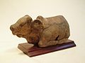 MT-167 Majapahit terracotta Nandi, Leftside.JPG