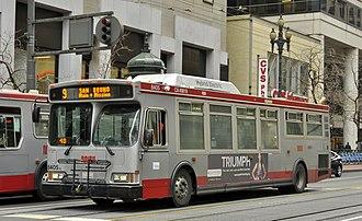 San Francisco Municipal Railway fleet - Image: MUNI 8406
