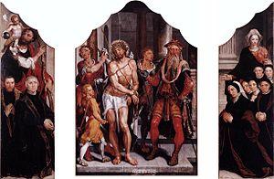 Triptych with Ecce Homo
