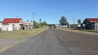 Leyburn, Queensland - Macintyre Street (main street), Leyburn, 2015