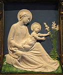 Madonna with Child and Flower by Luca della Robbia - National Gallery of Art, Washington - DSC08605.JPG