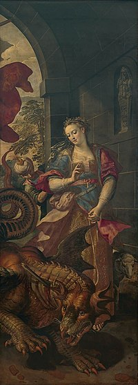 Maerten de Vos - St. George and the princess of Silene return to the city with the vanquished dragon.jpg