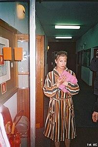 Magdalena Schejbal po spektaklu Król Lear w Teatrze na Woli, 22 lutego 2007