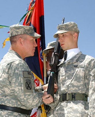 Benjamin Freakley - Image: Major General Freakley and Private First Class Fitzsimmons