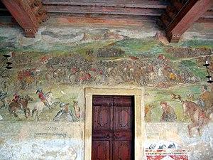Battle of Molinella - Depiction of the battle in the Malpaga Castle