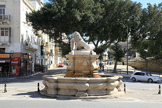 António Manoel de Vilhena - Lion Fountain in Floriana, which was built in 1728 during Vilhena's magistracy
