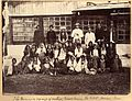 Manager and group of coolies at the Manabarrie Tea Estate, Dooars in the 1880s.jpg