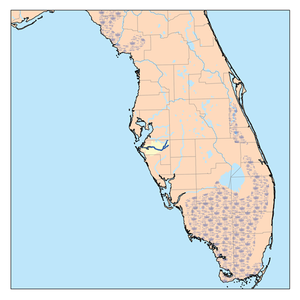 Manatee River - Map of Manatee river in central Florida
