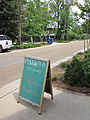 Mandeville Maxens puppy friendly sign.JPG
