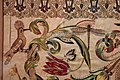 Manifattura forse fiorentina, paliotto della madonna del letto, raso, seta, oro e argento, 1601, da museo del ricamo di pistoia 07 upupa, libellula, farfalla.jpg