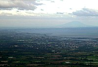 The plains of Central Luzon, with Mount Arayat in the background