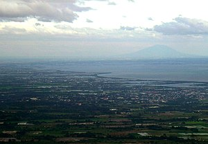 Mount Arayat - View from Mount Samat over Manila Bay to Mount Arayat