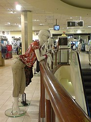 File:Mannequins survey the escalator, Debenhams, the White Rose Centre -  .... By: http://www.geograph.org.uk/profile/4180 RichTea