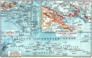History of Lae - Map of the Kaiserwilhelmsland, the German colony of New Guinea, 1884–1919