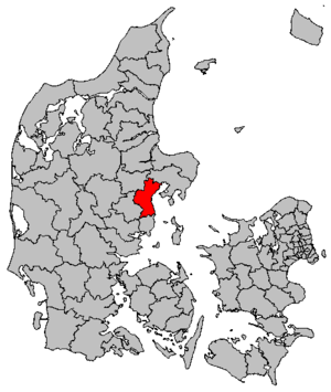 Aarhus Municipality - Location map in Denmark