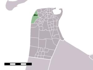 Huisduinen - Image: Map NL Den Helder Huisduinen