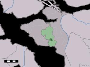 Poortvliet - Image: Map NL Tholen Poortvliet