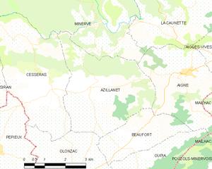 Azillanet - Map
