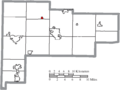 Map of Auglaize County Ohio Highlighting Buckland Village.png